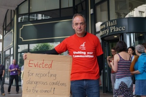 Michael James faces eviction for highlighting serious health & safety issues to the council