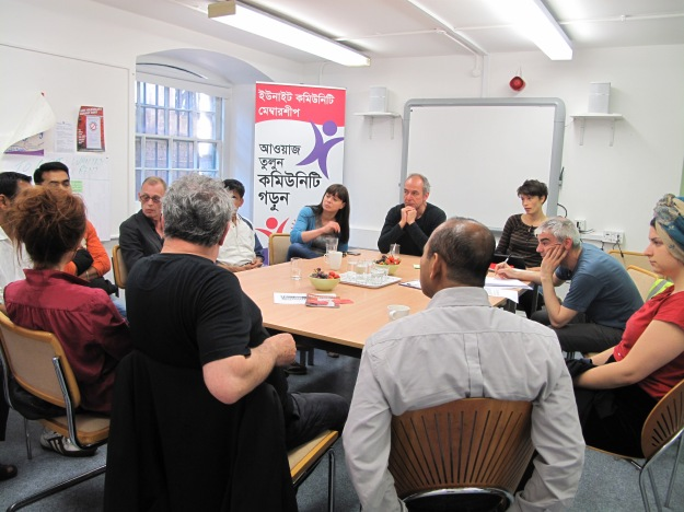 private renter support session at the Unite Community Centre, summer 2014